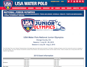 USA Water Polo Junior Olympics